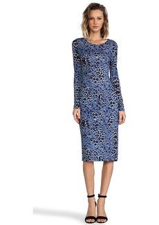 DEREK LAM 10 CROSBY Long Sleeve Dress in Blue