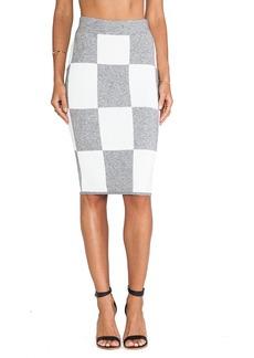 DEREK LAM 10 CROSBY Pencil Skirt in Gray