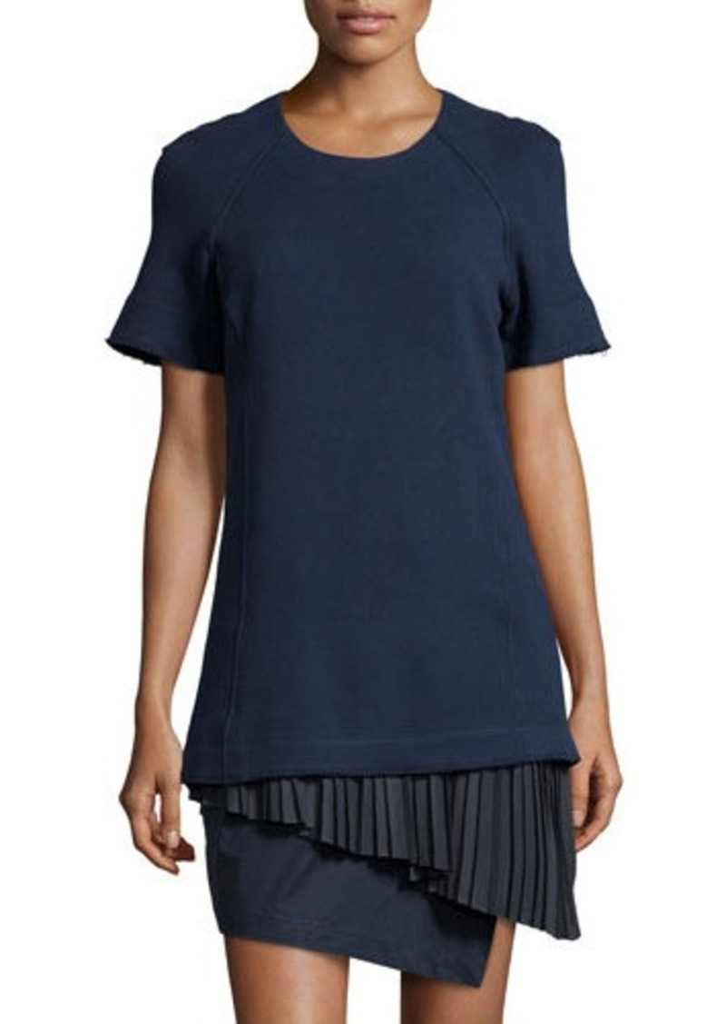 10 crosby derek lam 10 crosby derek lam pleated 2 in 1 for Derek lam 10 crosby shirt dress