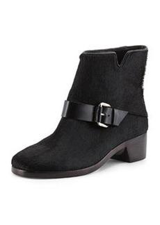 Charlotte Calf Hair Ankle Boot, Black   Charlotte Calf Hair Ankle Boot, Black