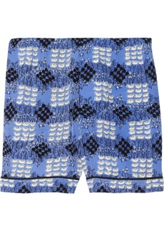 Marni Printed silk shorts