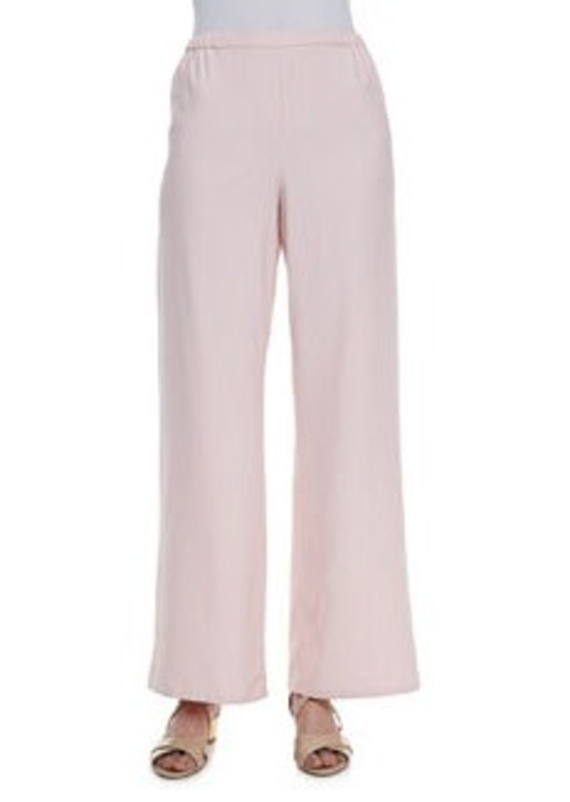 Go Silk Wide-Leg Silk Pants, Women's