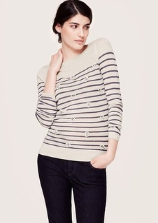 Stripe Embellished Sweater