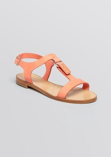 Salvatore Ferragamo Open Toe Flat Sandals - Pana