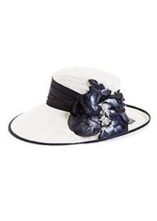 Floral Topper Straw Hat