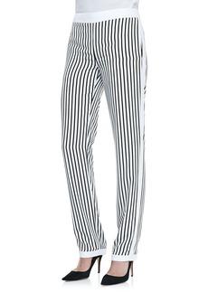 J Brand Ready to Wear Delia Striped Straight-Leg Trousers