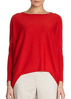 Lafayette 148 New York Dolman-Sleeve Wool Hi-Lo Sweater