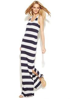 INC International Concepts Petite Striped Racerback Maxi Dress