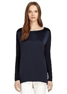 Long-Sleeve Silk and Cotton Tee
