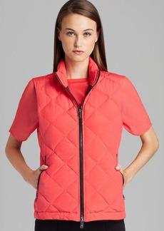 DKNY Quilted Zip Front Puffer Vest