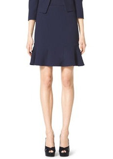 Michael Kors Stretch-Crepe Flounce Skirt