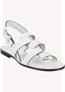 Jil Sander Fold-Over-Strap Slingback Sandals