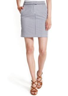 Tommy Hilfiger Seersucker Striped Pencil Skirt