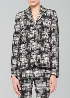 Akris punto Two-Button Crosshatch-Print Jacket
