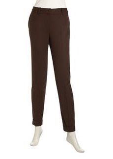 Lafayette 148 New York Slim Cuffed Pants, Espresso