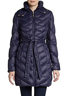 Ellen Tracy Quilted Down Packable Jacket