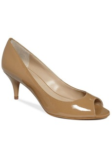 Tahari Marie Peep Toe Pumps