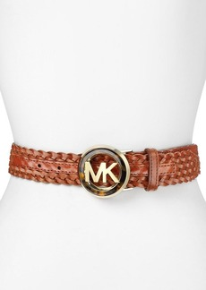 MICHAEL Michael Kors Belt - Braided with Tortoise Tone Buckle