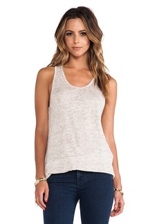 Central Park West Rhodes Asymmetric Hem Tank in Cream