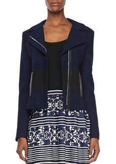 Nanette Lepore West Coat Two-Tone Jacquard Jacket