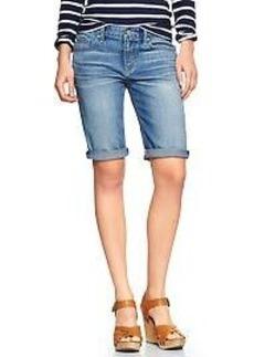 1969 skinny bermuda denim shorts