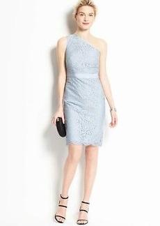 Petite Lace One Shoulder Dress