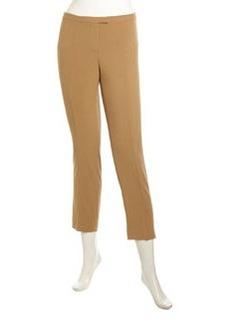 Isaac Mizrahi Stretch-Knit Ankle Pants, Camel