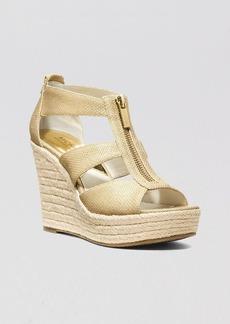 MICHAEL Michael Kors Platform Espadrille Wedge Sandals - Damita