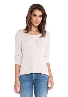 Velvet by Graham & Spencer Talora Cotton Crochet Sweater in Blush