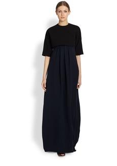 Derek Lam Strapless Silk Twist Gown