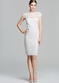 Laundry by Shelli Segal Dress - Cap Sleeve Scoop Back Lace Sheath