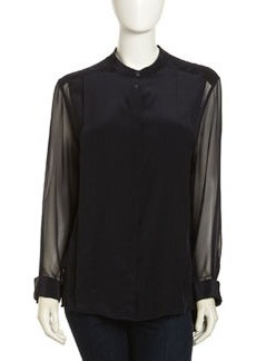 Paper Denim & Cloth Irving Silk Blouse, Black