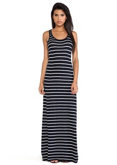 Vince Striped Maxi Dress in Navy