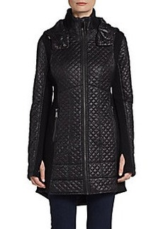 Saks Fifth Avenue BLUE Quilted A-Line Jacket
