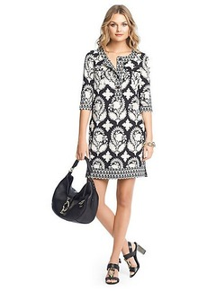 Sadie Printed Silk Tunic Dress