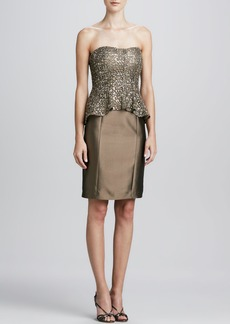 Kay Unger New York Strapless Sequined-Bodice Cocktail Dress