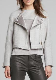 J Brand Ready to Wear Elyn Cropped Felt Jacket