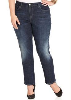 Levi's® Plus Size 580 Curvy Defined Waist Straight-Leg Jeans, Glacier Wash