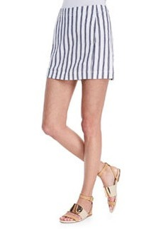 Chonos Striped Casual Skirt   Chonos Striped Casual Skirt