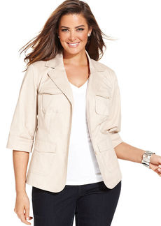 Charter Club Plus Size Twill Jacket