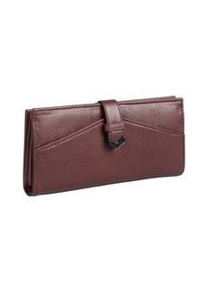 Kooba wineberry leather fold-open continental wallet