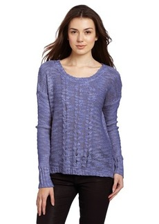 Kensie Women's Airy Lurex Knit Sweater
