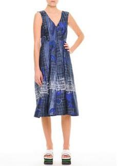 Marni Abstract Floral V-Neck Dress