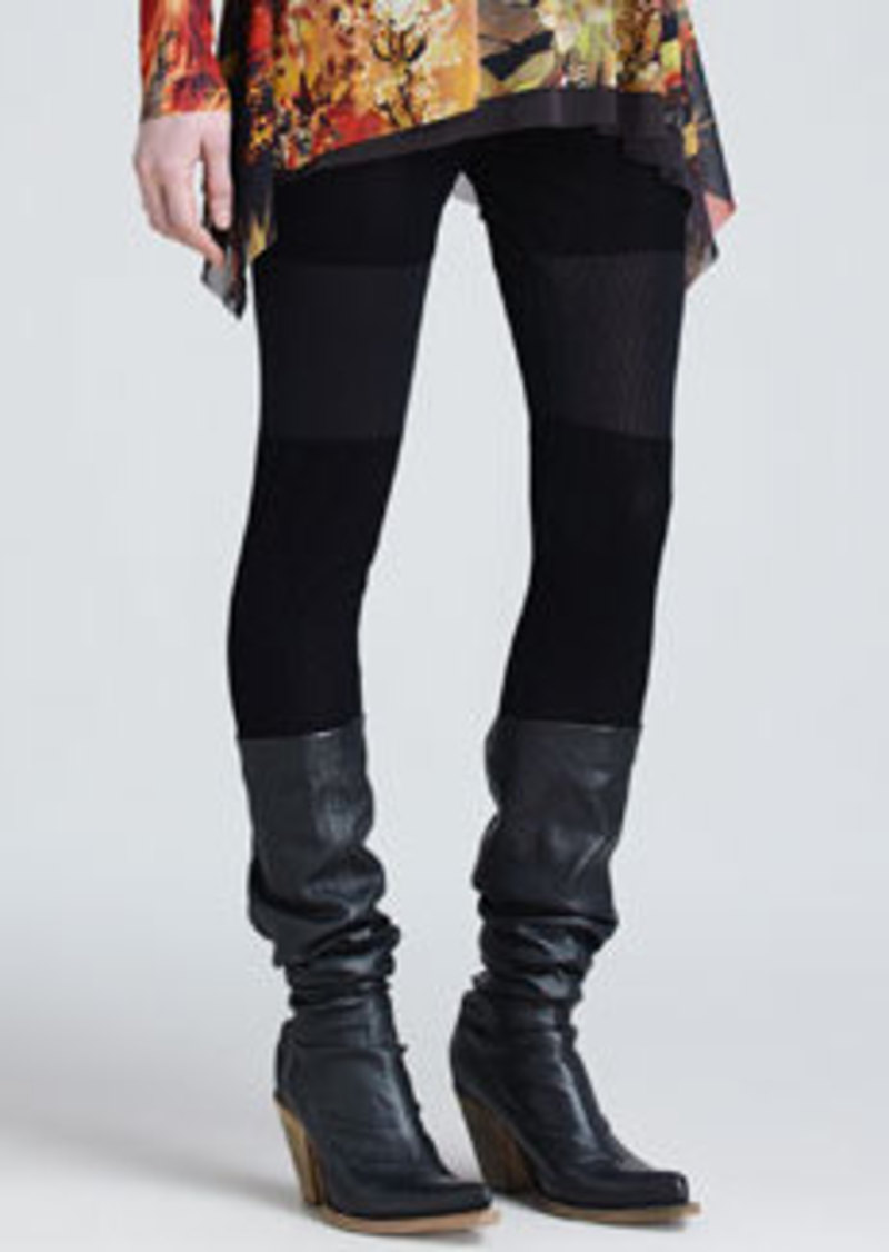 Jean Paul Gaultier Leggings with Fold-Down Waist