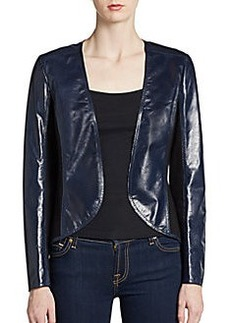 Lafayette 148 New York Cropped Leather Jacket