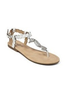 "Lucky Brand® ""Chorse"" Flat Sandals with Seahorse Charm"