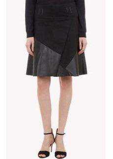 Proenza Schouler Twill & Leather Mini Skirt