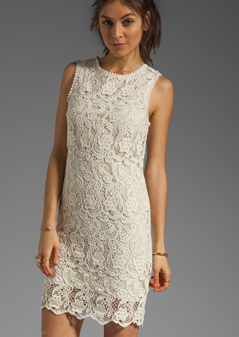 Joie Vionne Crochet Lace Dress in Cream