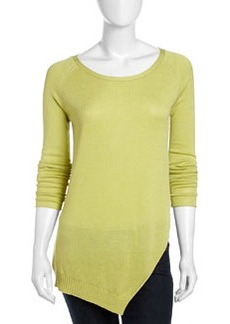 Lafayette 148 New York Long-Sleeve Peaked Pullover Sweater, Pear