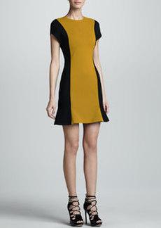 JASON WU Colorblock Wool Crepe Dress, Gold/Black